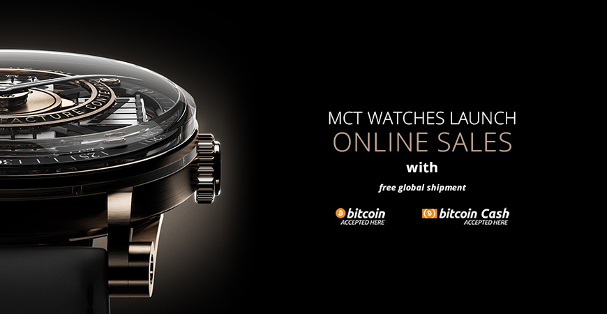 MCT Watches launch online sales - Buy with Bitcoin
